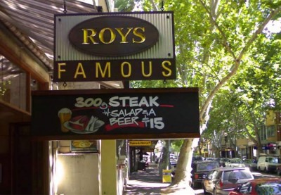 Roy's Famous Cafe Sign