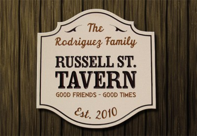 Russell St. Tavern Pub Sign