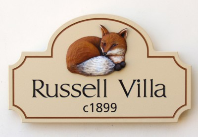 Russell Villa House Sign