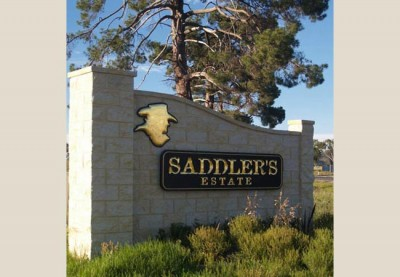 Saddler's Estate Monument Development Sign