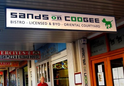 Sands on Coogee Restaurant Sign