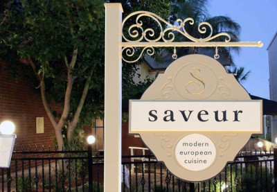 Saveur Restaurant Sign