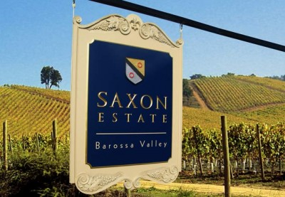 Saxon Estate Winery Sign