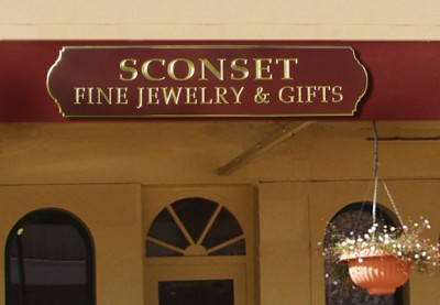 Sconset Jewelry Business Sign