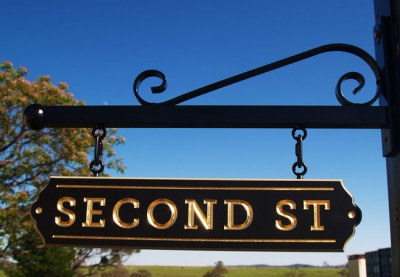 Second Street Development Sign