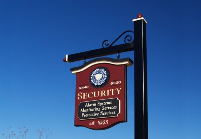 Security Business Sign