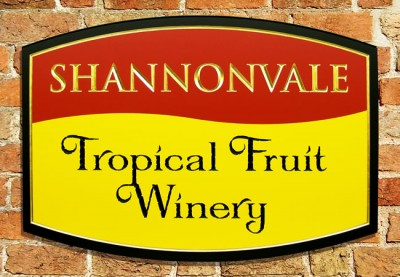 Shannonvale Tropical Fruit Winery Sign