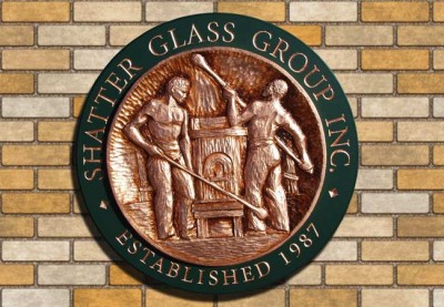Shatter Glass Group Business Sign