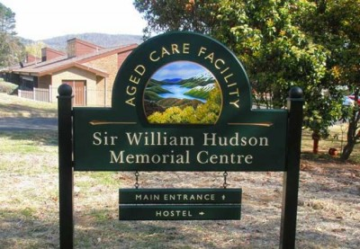 Sir William Hudson Aged Care Sign