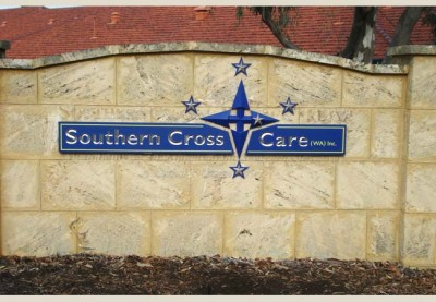 Southern Cross Aged Care Sign
