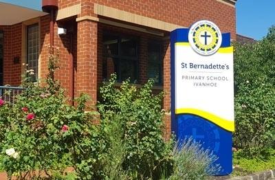 st-bernadettes-school-ivanhoe-entrance-sign