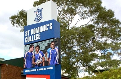 st-dominics-college-penrith-led-sign