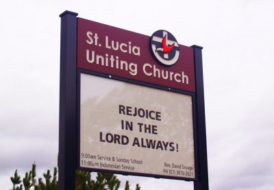 St Lucia Uniting Church Sign