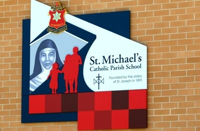 st-michaels-mittagong-school-wall-sign