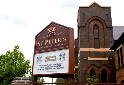 St Peters Surry Hills Church Sign