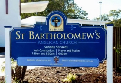 St Bartholomews Anglican Church, Centenary Heights QLD Sign