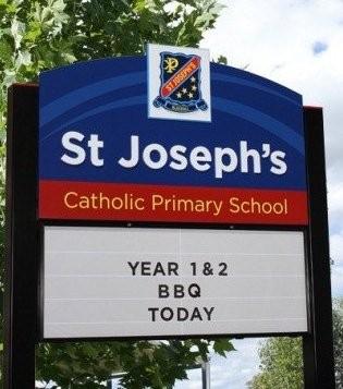 St Josephs Blackall messageboard sign