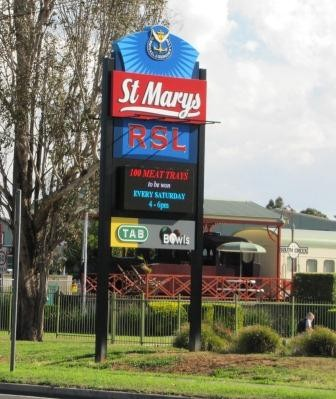 St Marys RSL LED Sign