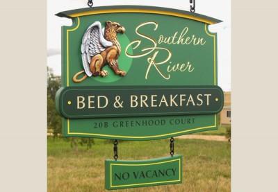 Southern River B&B Sign