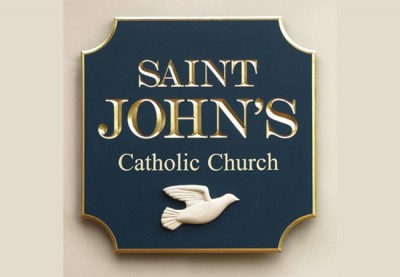 Saint John's Catholic Church sign