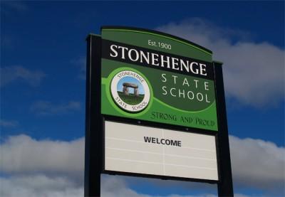 Stonehenge State School Sign