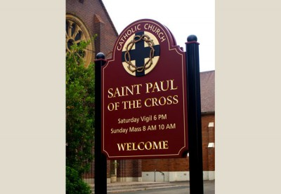 St Paul of the Cross Church, Dulwich sign