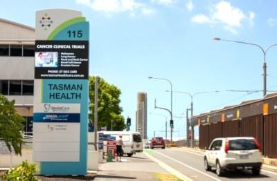 tasman-health-care-digital-pylon-sign-gold-coast