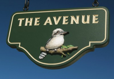 The Avenue Property Sign