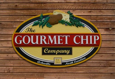 The Gourmet Chip Business Sign