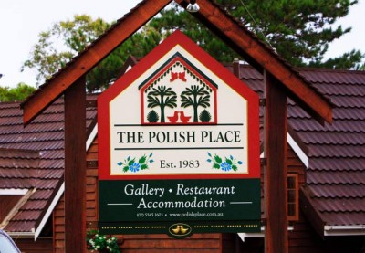 The Polish Place Cafe Sign