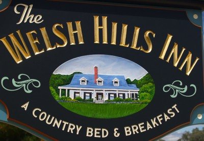The Welsh Hills Inn B&B Signs