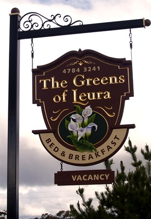 The Greens of Leura B&B Sign