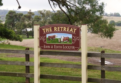 The Retreat Property Sign