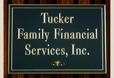 Tucker Family Financial Services Business Sign