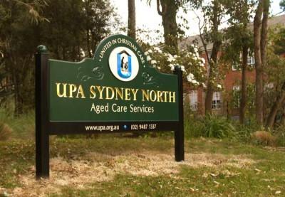 UPA Sydney North Aged Care Sign