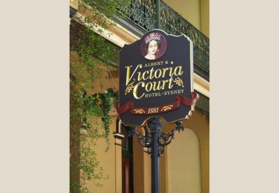 Victoria Court B&B Sign