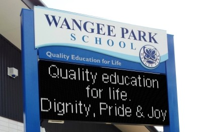 Wangee Park School LED and building identification signs