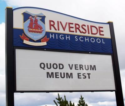 Riverside High School Sign