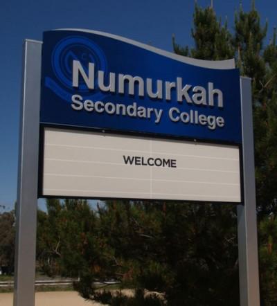 Numurkah Secondary College Sign