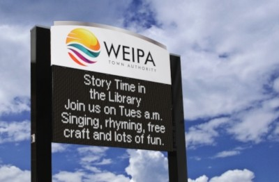 weipa-town-authority-electronic-notice-board-signage