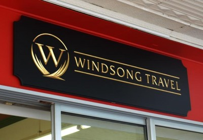 Windsong Travel Business Sign