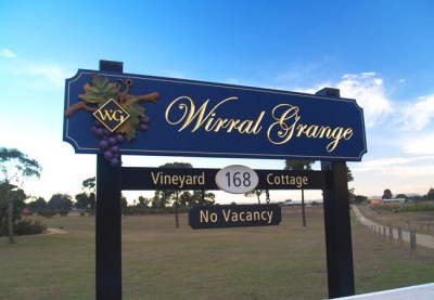 Wirral Grange Winery Sign