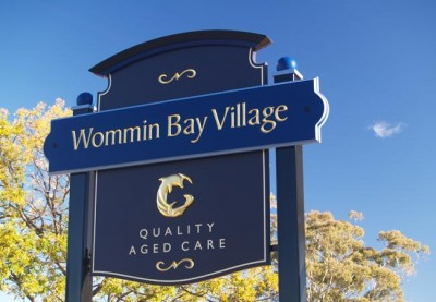 Wommin Bay Village Aged Care Sign