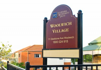 Woolwich Village Aged Care Sign