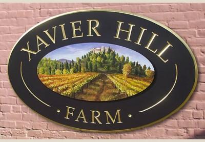 Xavier Hill Farm Winery Sign