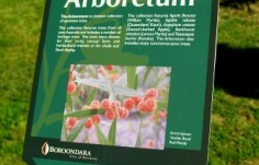 Arboretum information plaque