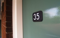 City Crown Door Number Sign