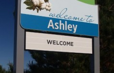 Moree Local Government Ashley town entry sign