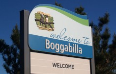 Moree Local Government Boggabilla town entry sign