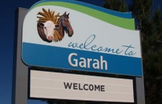Moree Local Government Garah town entry sign